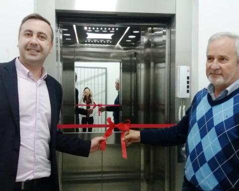 Inauguração do novo elevador da APAE de Porto União