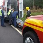 Corpo de Bombeiros atende vítima de colisão