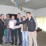 Direção do Cedup Vidal Ramos com Aloísio Salvatti e o deputado estadual Antônio Aguiar
