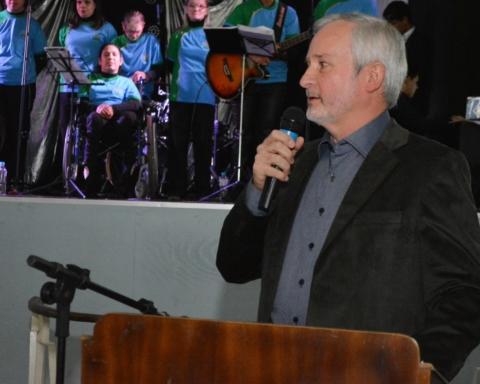 Presidente Leocir Aloisio Weber, no jantar de 45 Anos da APAE