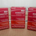 Biomatrop 4ui, medicamento que contém o hormônio somatropina