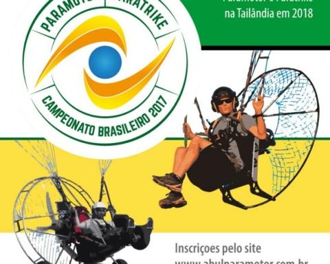 Imagem de divulgação do Campeonato de Paramotor e Paratrike