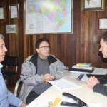 Aloísio Salvatti, Antônio Aguiar e Luis Carlos Martins, na ADR Canoinhas