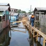 O Estado do Amazonas sofre com inundações