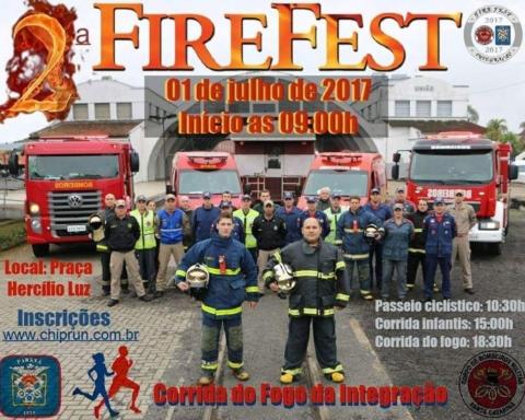 Divulgação da 2º FireFest, que acontece no sábado, dia 01