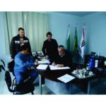 Representantes da Cohapar visitam prefeito de Paulo Frontin para tratar das casas populares
