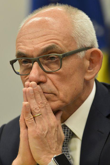 O presidente da Vale, Fábio Schvartsman, durante audiência pública da Comissão Externa da Câmara que acompanha as investigações sobre o rompimento da barragem em Brumadinho.