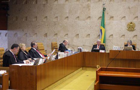 Brasília - Plenário do STF no julgamento de ação para impedir que parlamentar réu ocupe a presidência da Câmara dos Deputados ou do Senado  (Nelson Jr./SCO/STF)
